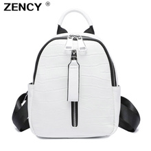 ZENCY 2020 Small Summer Soft Natural Genuine Leather First Layer Cow Leather Women