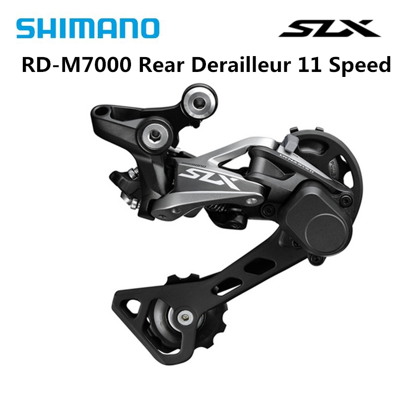 <font><b>Shimano</b></font> <font><b>SLX</b></font> RD-<font><b>M7000</b></font> <font><b>11</b></font> Speed Shadow + Rear Derailleur Mountain Bicycle Bike Parts 11s GS Black Rear Derailleurs Free Shipping image