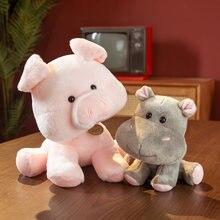 15CM-30CM Cute Animal Plush Toy Doll Kawaii Tiger Bear Owl Little Raccoon Hippo Leopard Pig Elephant Frog Husky Toy Gifts