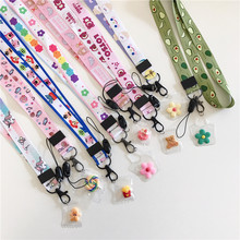 Luxury Cartoon Cute Pendant Neckline Key Lanyard Certificate Gym Mobile Phone with USB Camera ID Folder DIY Lanyard wholesale(China)