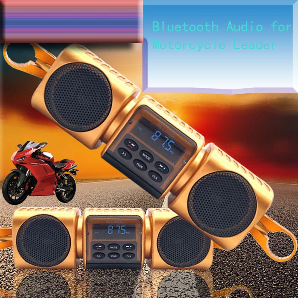 12V Black Motorcycle MP3 Music Player Bluetooth Stereo For Harley For Honda Speakers FM Radio With LED Display Waterproof