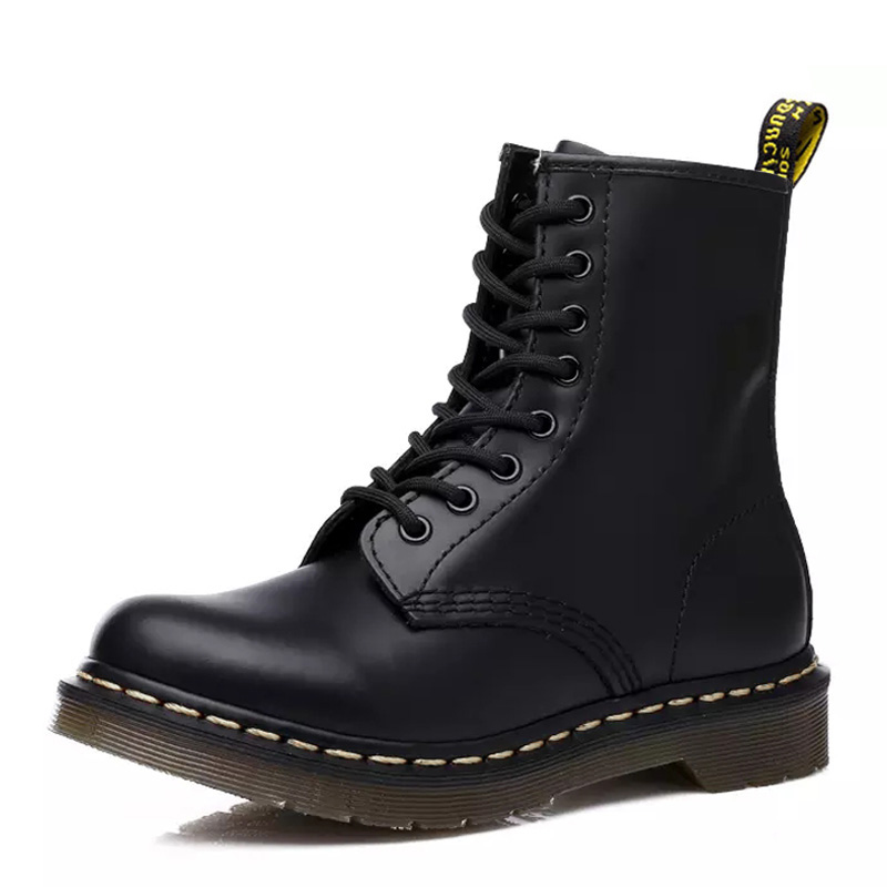 Unisex Genuine Leather For Martin Boots Men Boots Dr Martens Boot Motorcycle Boots Winter Shoe Mens Winter Footwear Warm Booties