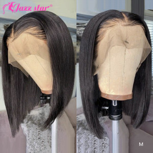 Brazilian Wig Straight Short Bob Lace Front Wigs 13x4 Lace Front Human Hair Wigs Pre-plucked With Baby Hair Jazz Star Non-Remy(China)