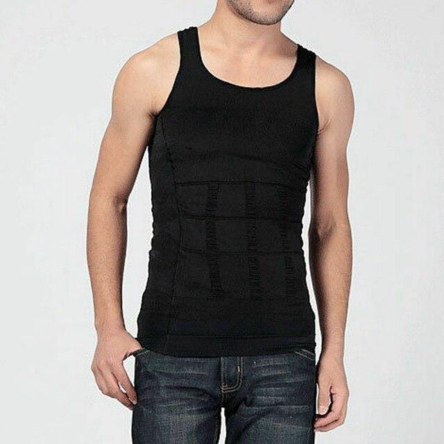 Ultra Lift Body Slimming Shaper For Men Chest Compression Shaper Vest Top Sweat Shirt Slim Tank Tops Tummy Belly Trimmer Shirt