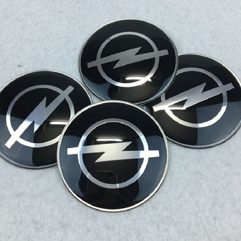 Car Styling 4Pcs Wheel Center Hub Cap Stickers 65mm emblems for Opel astra opel astra h astra g insignia Opel mokka car image
