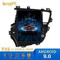 Tesla style Android 9.0 PX6 Car Radio Player GPS Navigation For KIA K5 Optima 2010 2011 2013 Car Auto Stereo HeadUnit DVD Player