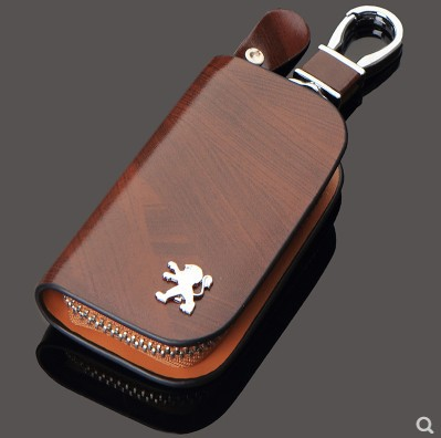 Car-Key-Bag Logo 4008 Peugeot 5008 508 3008 2008 Genuine-Leather New 301 Dongfeng title=