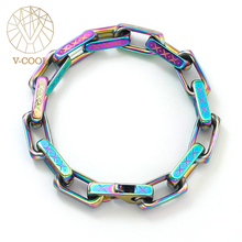 Rap-Accessories Bracelet Jewelry Printed-Version Titanium Steel Hip-Hop Colorful Corrosion-Boys