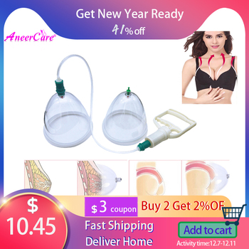 2 Cans Hip Breast Vacuum Cupping Massager Ventosa masaje Vacumterapia Enhancement Pump Lifting Big Body  Therapy Machine