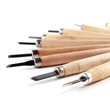 Нож для резьбы по дереву, плотницкая ручка для гравировки, ручные резцы по дереву, зубило, скульптурные ножи, Деревообрабатывающие инструменты, нож по дереву, 10 шт