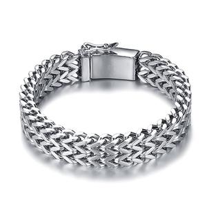 Image 3 - Prata antiga cor de aço inoxidável 12mm largura buda pulseira para mulher corrente bangle encantos pulseiras masculino pulseira jóias 014