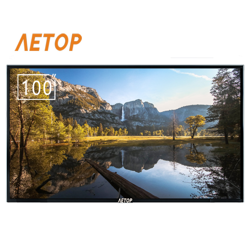 Free shipping-big 100 inch flat explosion-proof screen Ultra HD android tv led...