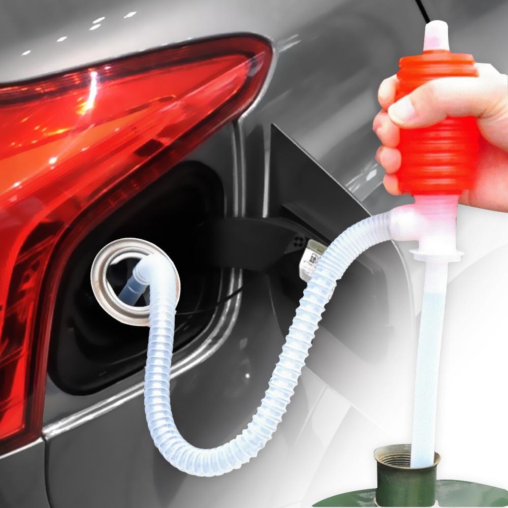 LEEPEE  Manual Siphon Suction Water Car Truck Fuel Oil Gasoline Diesel Transfer Sucker Hand Pump Auto Accessories