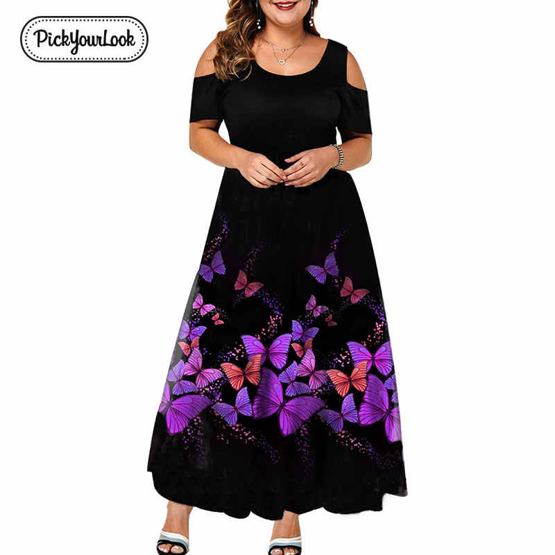 Evening Party Summer Plus Size Maxi Dress Women 6XL 2019 Short Sleeve Floral Printed Elegant A-line Large Dress For Ladies D40
