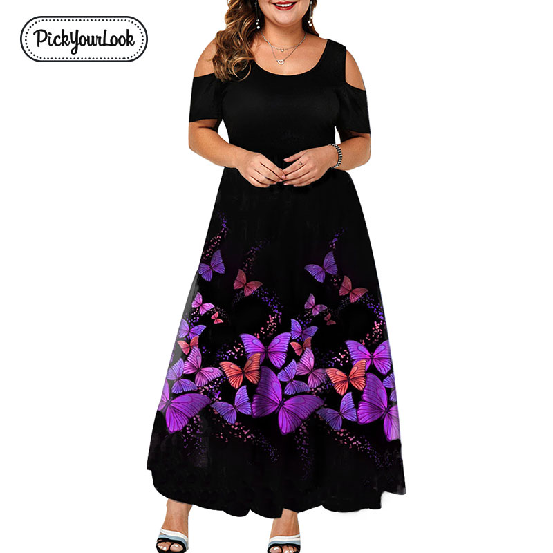 Evening Party Summer Plus Size <font><b>Maxi</b></font> <font><b>Dress</b></font> Women <font><b>6XL</b></font> 2019 Short Sleeve Floral Printed Elegant A-line Large <font><b>Dress</b></font> For Ladies D40 image