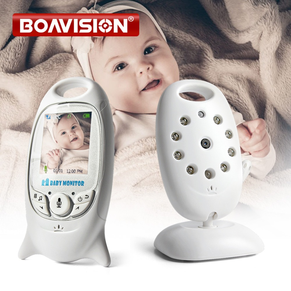 VB601 Video Baby Monitor Wireless 2.0'' LCD Babysitter 2 Way Talk Night Vision Temperature Security Nanny Camera 8 Lullabies