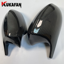Real Carbon Fiber Horned Style Rearview Mirror Housing Cover Caps For BMW 1 3 Series