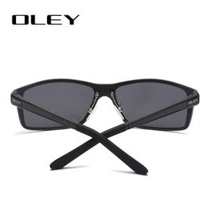 Image 3 - OLEY الرجال الاستقطاب النظارات الشمسية الألومنيوم المغنيسيوم نظارات شمسية نظارات للقيادة مستطيل ظلال للرجال Oculos masculino الذكور