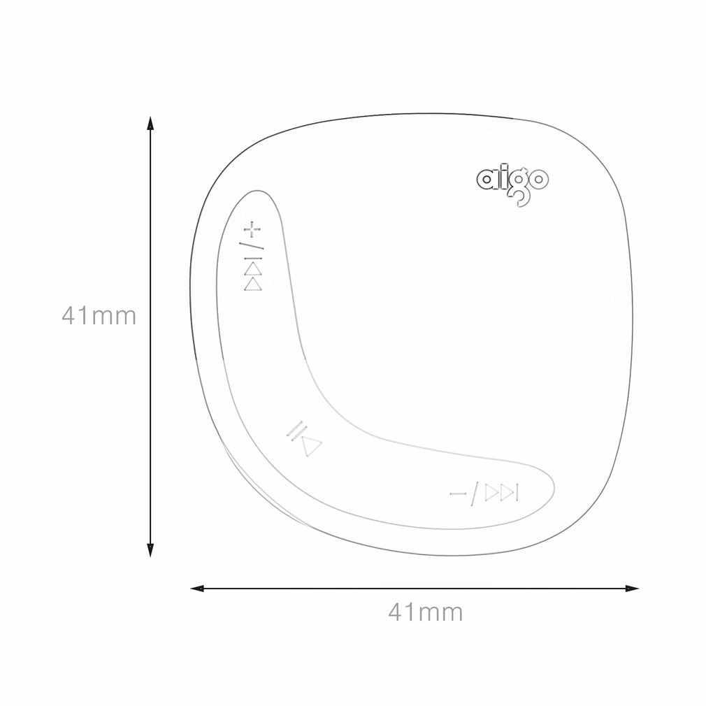 AIGO Mini MP3 Người Chơi Rằn Ri Nâu Đất 2 Màu Lưng Kẹp Với Micro TF/SD Khe Cắm Thẻ thể thao MP3 Nghe Nhạc + USB dòng dữ liệu