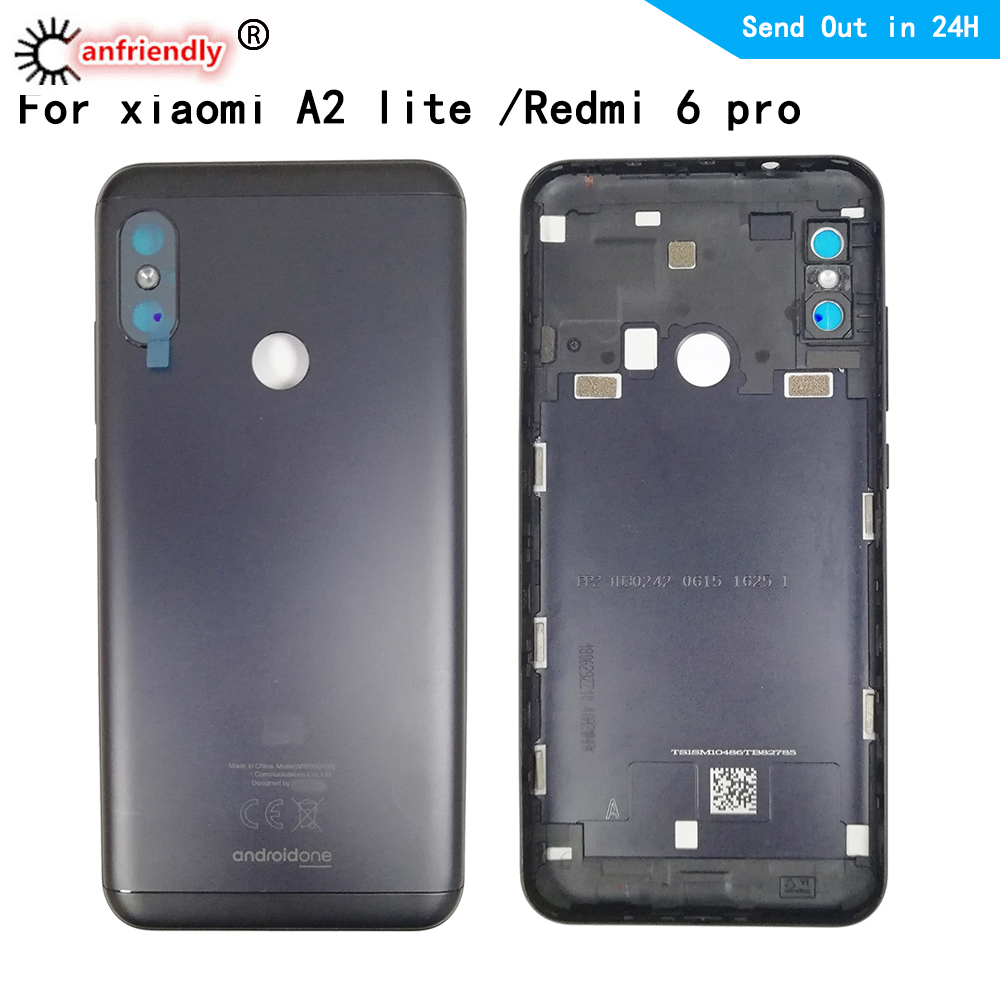 battery cover For Xiaomi Redmi 6pro 6 pro Back Glass Battery Cover Rear Door Housing Case Back Cover For Xiaomi A2 lite A2lite Mobile Phone Housings & Frames Cellphones & Telecommunications - title=