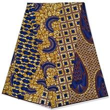 Veritable Dutch wax African Wax Prints Fabric 6 Yards Ankara wrapper printed pattern 100% cotton