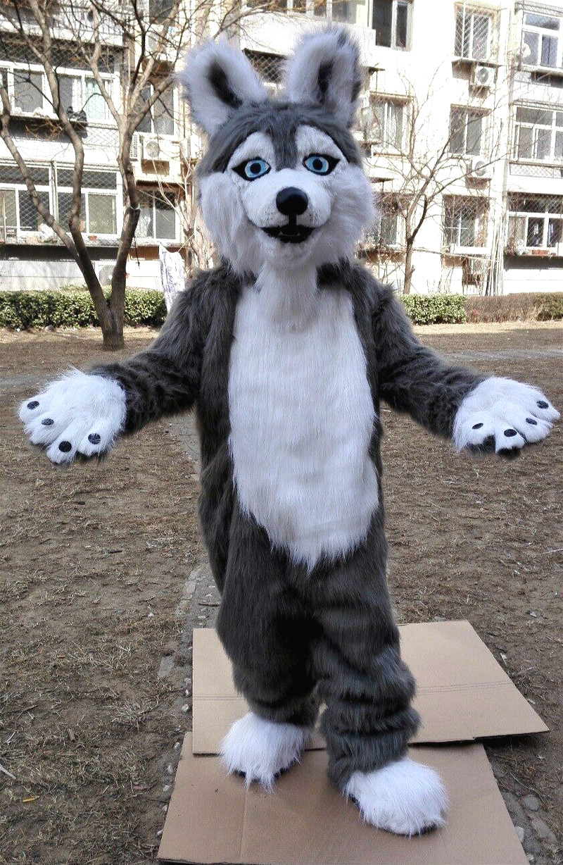New Long Fur Fox Dog Fursuit Furry Husky Mascot Costume Suit Cosplay Party Fancy Dress Outfit Hallowen Cosplay Unsiex S Xxl Buy At The Price Of 295 99 In Aliexpress Com Imall Com