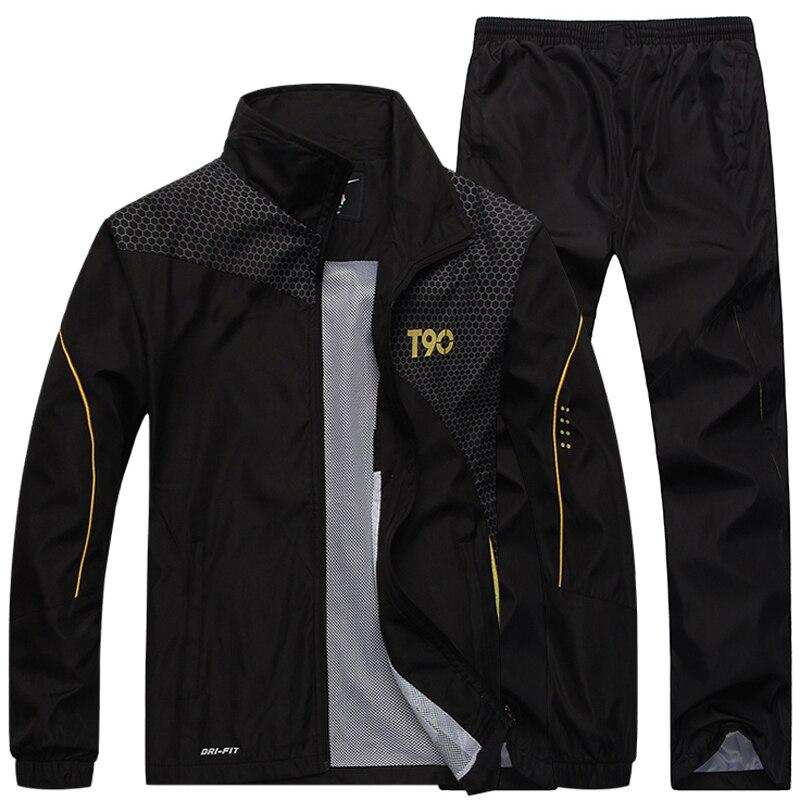 Tracksuit Men's Sportswear Jacket +Pants 2pcs  Clothing Set Outwear Training Basketball Track Suit Joggers Sport Suit Men
