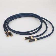 Audiocrast A10 ペア rca ケーブルトップ傾斜シルバーメッキ rca オスと WBT0144 rca プラグケーブル