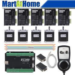5 osi silnik krokowy CNC zestaw sterowników Mach3 Ethernet 300 KHz z MPG kontroler dla DIY CNC Router w Frezarki do drewna od Narzędzia na