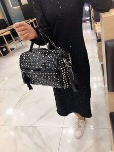 Image 5 - Sac à main de luxe strass pour femmes, sacoche de luxe, sac en diamant, sacoche à épaule imprimé léopard pour femmes, nouvelle collection