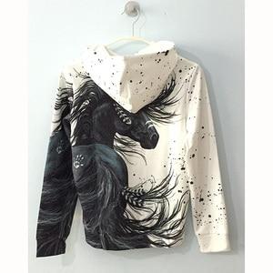 Image 5 - Bianco Cavallo Unicorno Felpa Con Cappuccio Con Cappuccio Costume Delle Ragazze Del Manicotto Lungo Felpe Bambini Streetwear Autunno casual Vestiti Del Bambino Della Ragazza