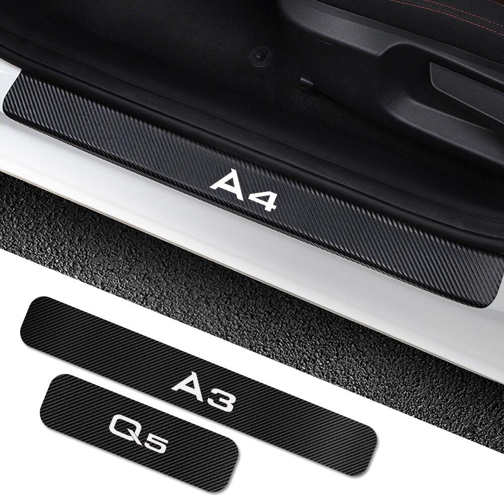 Progi samochodowe naklejka na Audi A4 B5 B6 B7 B8 B9 A3 8P 8V 8L A5 A6 C6 C5 C7 A1 A7 A8 Q2 Q3 Q5 Q7 RS3 RS4 RS5 RS6 TT akcesoria