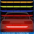 Автомобильная отражающая лента, Предупреждение ющая лента, отражающая клей, бесследная защита для автомобилей, пленка для багажника, аксес...
