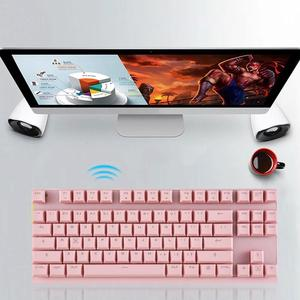 Image 5 - MOTOSPEED GK82 נייד 2.4G Wired/אלחוטי מצב כפול מכאני מקלדת 87 מפתחות LED משחקי תאורה אחורית כחול/אדום מתג מחשב גיימר