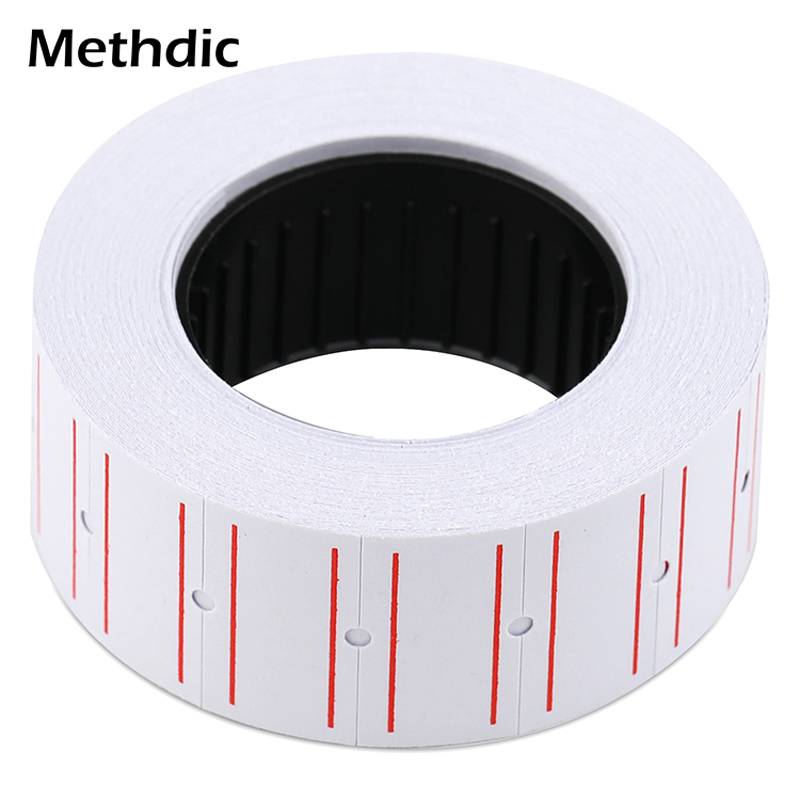 Methdic 21mmX12mm Self Adhesive Paper Tag 10 Rolls For Retail Shop Price Gun Label Price Sticker