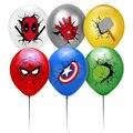 12 шт./компл. 12-дюймовый латексный шар Super Hero, щит молотка паука, несколько цветов, шар для украшения дня рождения