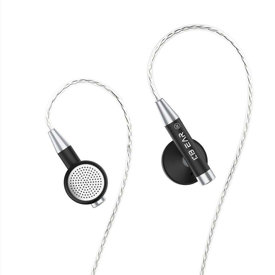 06 אוזן נייט ב Wired מתכת מעטפת האוזניות Kbear Hifi אוזניות אוזניות עם מצופים כסף בכבלים KB 06 אוזניות לסמארטפון Pc (5)