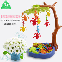 Puzzle Assembly Balance Monkey Tree Suit Crocodiles eat monkeys party game Montessori Toys Attention training gift toy for kids