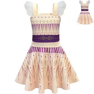 Dress-Up Frozen Rapunzel Birthday-Dresses Short-Sleeve Anna Elsa Baby Princess Kids Children