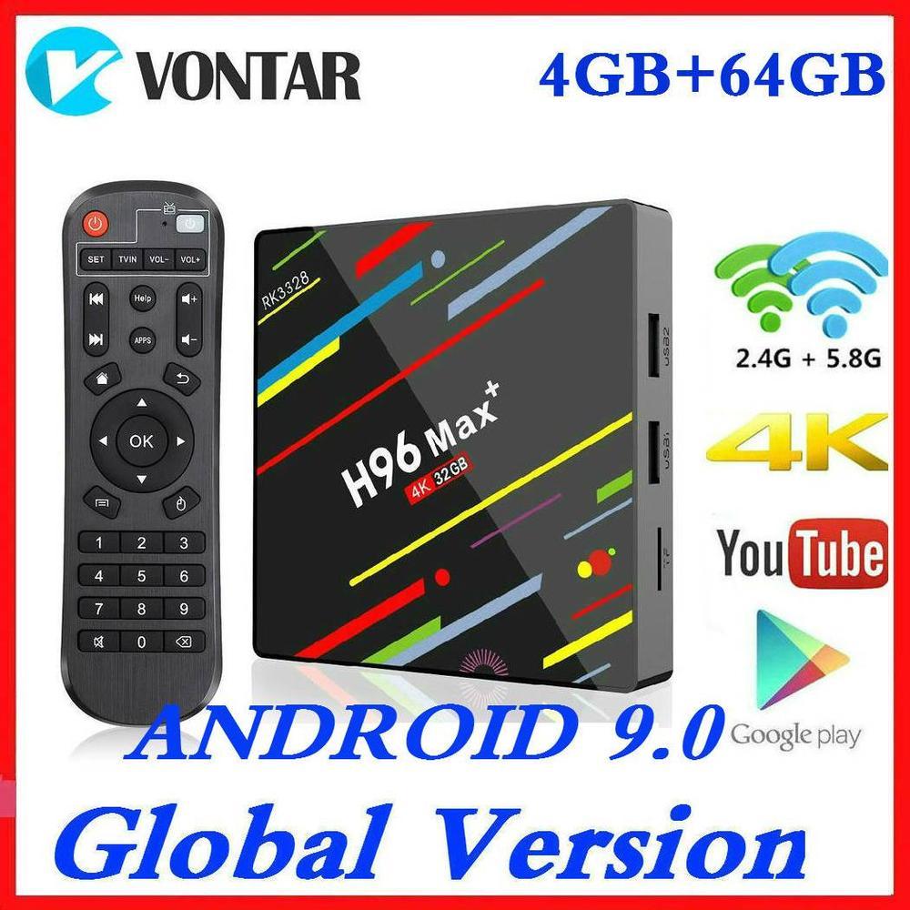 H96 MAX Smart TV BOX Android 9.0 RK3328 4K Media Player QuadCore 4GB Ram 64GB ROM Android BOX H96Max Plus + TVBOX 2G16G USB3.0