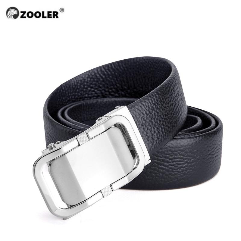 ZOOLER marque Litchi motif ceinture pour messieurs concepteur boucle ceinture hommes véritable cuir ceinture homme luxe # MY177