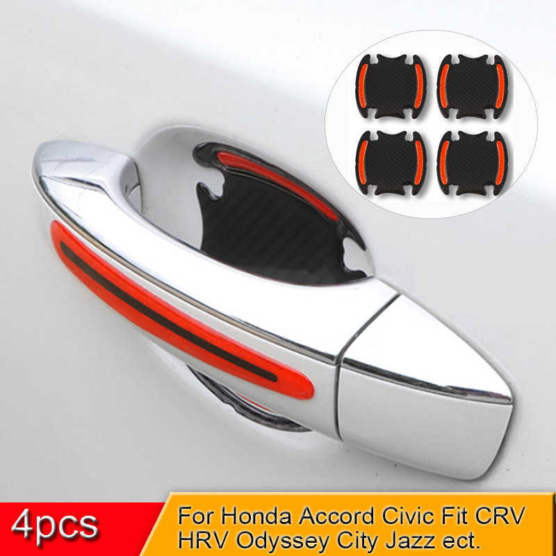 5D Car <font><b>Door</b></font> <font><b>Handle</b></font> Bowl Stickers And Decals Auto Reflective Strip Warning Safety Film For <font><b>Honda</b></font> Accord <font><b>City</b></font> CHR Civic Fit Vezel image