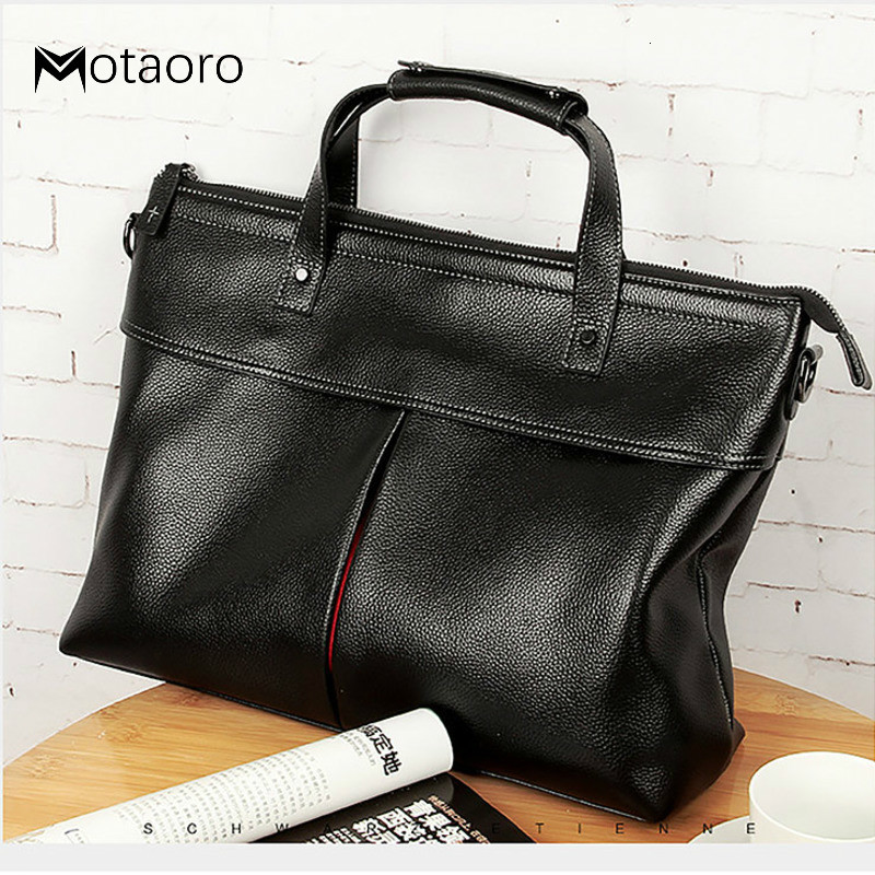 Handbag Man Genuine Leather For14inch Laptop Men Bag Male Package Leisure Time Computer Briefcase Bolso Hombre  Mens Office Bags