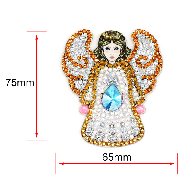 5pcs The Angel DIY Keychain Diamond Painting Special shaped Full Drill Embroidery Cross Stitch Jewelry Keyring