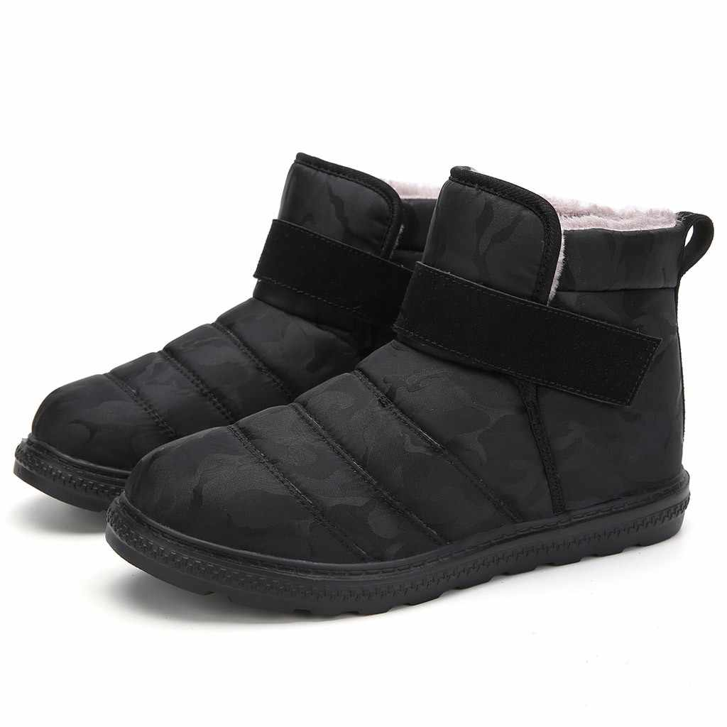 Warme Winter Sneeuw Laarzen Vrouwen Enkellaarsjes Winter Schoenen Waterdichte Winter Laarzen Mannen Katoenen Schoenen Vrouwelijke Dikke Bont Booties # g3
