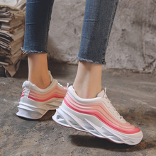 Kobiety buty trampki moda grube dno kobiet platformy trampki mieszkania kobiece obuwie Lady Zapatos De Mujer Dropshipping