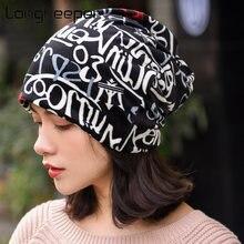 Модные шапки longkeeper с надписью женские многофункциональные