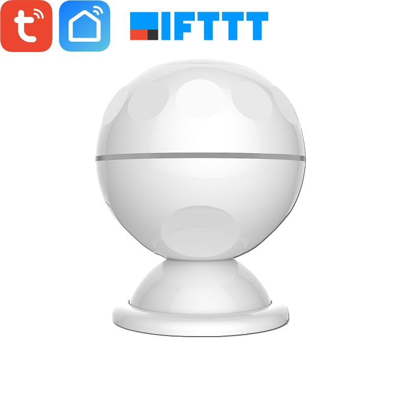 New Magnetic Mount Tuya Smart Battery WiFi PIR Motion Sensor Detector APP Push Alarm Notifications Smart Life Automation