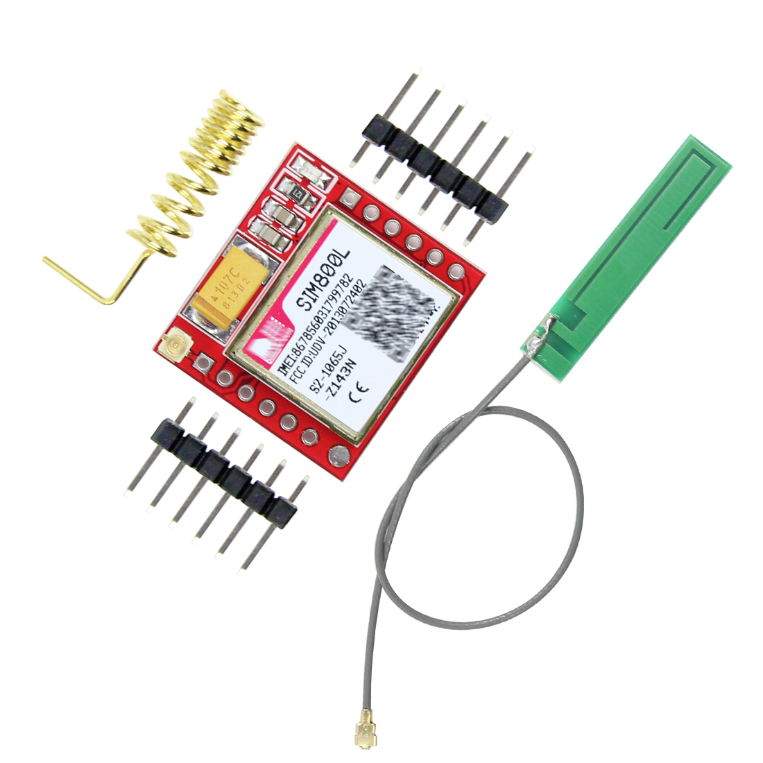 Smallest Mini SIM800L GPRS GSM Module MicroSIM Card Core Wireless Board Quad-band TTL Serial Port With IPX Antenna For Arduino