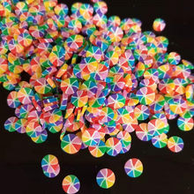 20g/lot 5mm Lollipop Polymer Clay Sprinkles Colorful Bonbons for DIY Card Making Tiny Cute Candy plastic klei Mud Particles(China)
